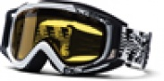 Smith Optics SNOW FUEL V.2 SWEAT-X Snowmobile Goggles Goggles - Black/White DFC-Yellow Dual Airflow AFC Lens