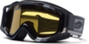 Smith Optics SNOW FUEL V.2 SWEAT-X Snowmobile Goggles Goggles - Black/Silver Max-Yellow Dual Airflow AFC Lens