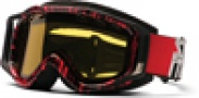 Smith Optics SNOW FUEL V.2 SWEAT-X Snowmobile Goggles Goggles - Black/Red Blocks-Yellow Dual Airflow AFC Lens