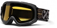 Smith Optics SNOW GAMBLER Snowmobile Goggles Goggles - Black One Percenter Yellow Dual Airflow AFC Lens