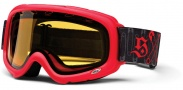 Smith Optics SNOW GAMBLER Snowmobile Goggles Goggles - Red Safety Pinner Yellow Dual Airflow AFC Lens