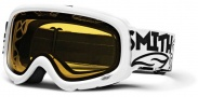 Smith Optics SNOW GAMBLER Snowmobile Goggles Goggles - White Yellow Dual Airflow AFC Lens