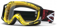 Smith Optics FUEL V.2 SWEAT-X Moto Goggles Goggles - Yellow Pastrana Signature / Clear AFC