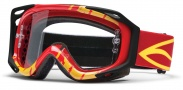 Smith Optics FUEL V.2 SWEAT-X Moto Goggles Goggles - Red - Yellow Slasher / Clear AFC