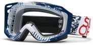 Smith Optics FUEL V.2 SWEAT-X Moto Goggles Goggles - Blue - White Patton / Clear AFC