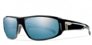 Smith Tenet Sunglasses Sunglasses - Black-Polarized Blue Mirror