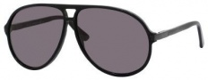 Gucci 1646/S Sunglasses Sunglasses - 029A Shiny Black (BN dark gray lens)