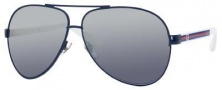 Gucci 1951/S Sunglasses Sunglasses - 075V Blue White (9U smoke mirror gradient lens)