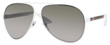 Gucci 1951/S Sunglasses Sunglasses - 0OSI White (U5 green gray ss lens)