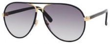 Gucci 2887/S Sunglasses Sunglasses - 0UZA Black Leather (JJ gray shaded lens)