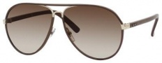 Gucci 2887/S Sunglasses Sunglasses - 0UZF Dark Chocolate Leather (CC brown gradient lens)