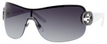 Gucci 2890/S Sunglasses Sunglasses - 06XL Dark Ruthenium White (PT gray gradient lens)