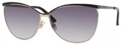 Gucci 2891/S Sunglasses Sunglasses - 0UWX Shiny Black Gold (JJ gray shaded lens)