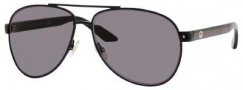 Gucci 2898/S Sunglasses Sunglasses - 0BKS Black Shiny Black (BN dark gray lens)