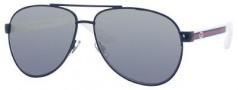 Gucci 2898/S Sunglasses Sunglasses - 075V Blue White (9U smoke mirror gradient lens)