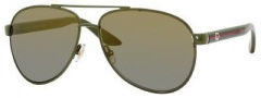 Gucci 2898/S Sunglasses Sunglasses - 0SI7 Palladium Green (DT brown gray ds lens)