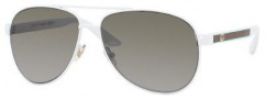 Gucci 2898/S Sunglasses Sunglasses - 0OSI White (U5 green gray ss lens)