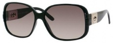 Gucci 3170/N/S Sunglasses Sunglasses - 0D28 Shiny Black (ED brown gradient lens)