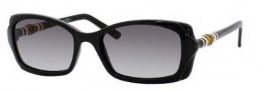 Gucci 3194/S Sunglasses Sunglasses - 0D28 Shiny Black (BD dark gray gradient lens)