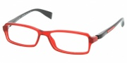 Prada PS 04BV Eyeglasses Eyeglasses - AB91O1 RED CRYSTAL DEMO LENS