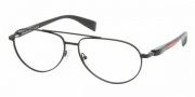 Prada PS 53BV Eyeglasses Eyeglasses - 1BO1O1 MATTE BLACK DEMO LENS
