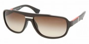 Prada PS 04MS Sunglasses Sunglasses - BRR6S1 BROWN DEMI SHINY BROWN GRADIENT