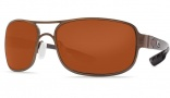Costa Del Mar Grand Isle Sunglasses - Gold Frame Sunglasses - Copper Poly. / Costa 580