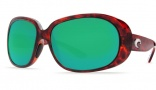 Costa Del Mar Hammock Sunglasses - Tortoise Frame Sunglasses - Copper Poly. / Costa 580