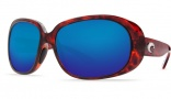 Costa Del Mar Hammock Sunglasses - Tortoise Frame Sunglasses - Amber Poly. / Costa 580