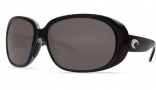 Costa Del Mar Hammock Sunglasses - Black Frame Sunglasses - Blue Mirror / 400G