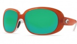 Costa Del Mar Hammock Sunglasses Salmon/White Frame Sunglasses - Amber CR-39 / Costa 400