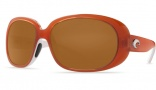 Costa Del Mar Hammock Sunglasses Salmon/White Frame Sunglasses - Amber / 400G