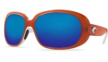 Costa Del Mar Hammock Sunglasses Salmon/White Frame Sunglasses - Amber / 580P