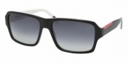Prada PS 05LS Sunglasses Sunglasses - AAM3M1 TOP BLACK/TALC GRAY GRADIENT