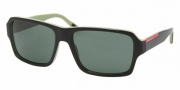 Prada PS 05LS Sunglasses Sunglasses - AAN3O1 TOP BLACK/GREEN GREEN