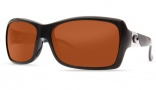 Costa Del Mar Islamorada Sunglasses - Black Frame Sunglasses - Amber Glass / Costa 400