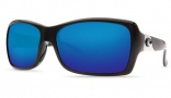 Costa Del Mar Islamorada Sunglasses - Black Frame Sunglasses - Gray Poly. / Costa 580