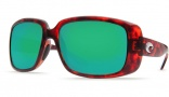 Costa Del Mar Little Harbor Sunglasses - Tortoise Frame Sunglasses - Copper Poly. / Costa 580