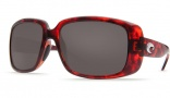 Costa Del Mar Little Harbor Sunglasses - Tortoise Frame Sunglasses - Blue Mirror Glass / Costa 580