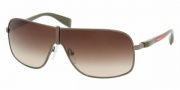 Prada PS 54LS Sunglasses Sunglasses - 7JO6S1 MILITARY BROWN GRADIENT