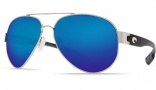 Costa Del Mar South Point Sunglasses - Palladium Frame Sunglasses - Blue Mirror Glass / Costa 580