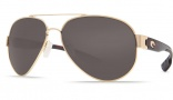 Costa Del Mar South Point Sunglasses - Gold Frame Sunglasses - Gray Glass / Costa 400