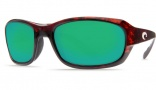 Costa Del Mar Tag Sunglasses - Tortoise Frame Sunglasses - Copper Poly. / Costa 580