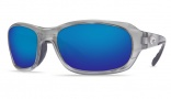 Costa Del Mar Tag Sunglasses - Silver Frame Sunglasses - Gray CR-39 / Costa 400