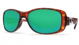 Costa Del Mar Tippet Sunglasses - Tortoise Frame Sunglasses - Copper Poly. / Costa 580