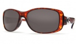 Costa Del Mar Tippet Sunglasses - Tortoise Frame Sunglasses - Gray Glass / Costa 400