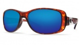 Costa Del Mar Tippet Sunglasses - Tortoise Frame Sunglasses - Amber Poly. / Costa 580