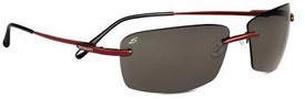 Serengeti Parma Sunglasses Sunglasses - 7448 Satin Red / Polar PhD CPG