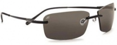Serengeti Parma Sunglasses Sunglasses - 7446 Satin Black / Polar PhD CPG