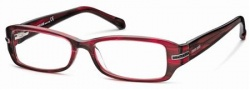 Roberto Cavalli RC0559 Eyeglasses Eyeglasses - 068 - Striped red/black- light ruthenium